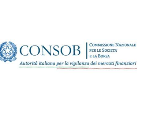 La Consob richiama l'attenzione sugli orientamenti ESMA relativi ai fattori di rischio ai sensi del nuovo Regolamento Prospetto